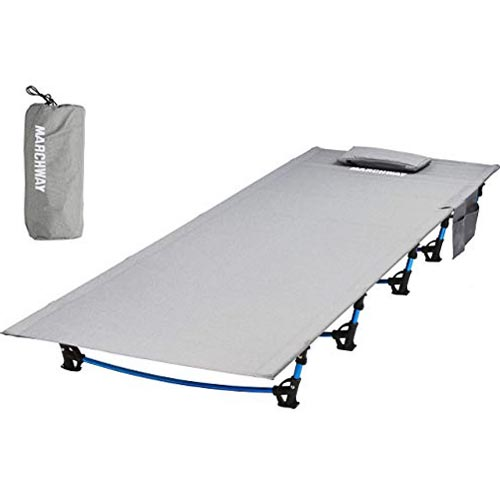 MARCHWAY Ultralight Folding Tent Camping Cot Bed
