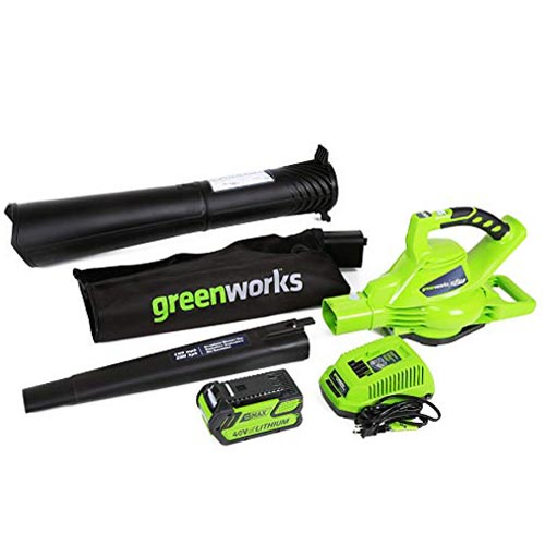 Greenworks 40V 185 MPH Cordless Blower & Vacuum 24322