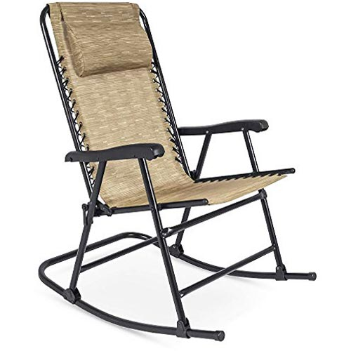 Foldable Zero Gravity Patio Rocking Lounge Chair