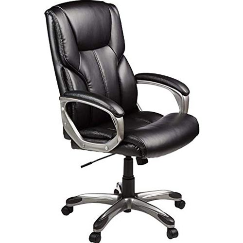 AmazonBasics High-Back Executive Swivel Office Computer Desk Chair