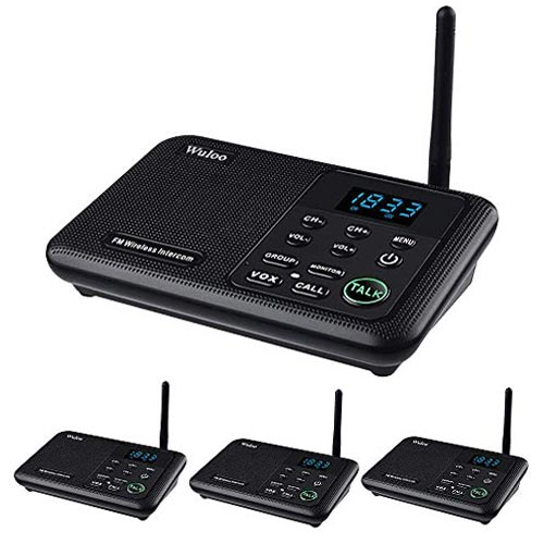Wuloo Intercoms Wireless for Home 1 Mile Range 22 Channel - WL888