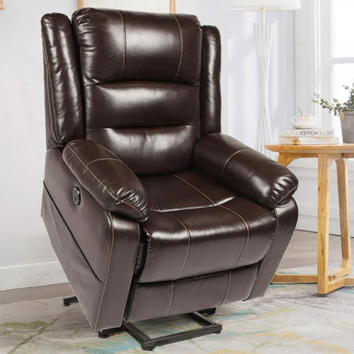 Esright Power Lift Chair Faux Leather Electric Recliner