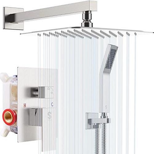 SR SUN RISE 12 Inches Bathroom Luxury Rain Mixer Shower