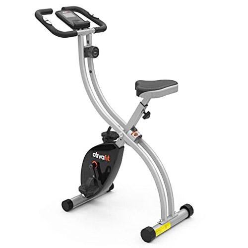 ATIVAFIT Indoor Cycling Bike Folding Magnetic Upright Bike Stationary Bike Recumbent Exercise Bike
