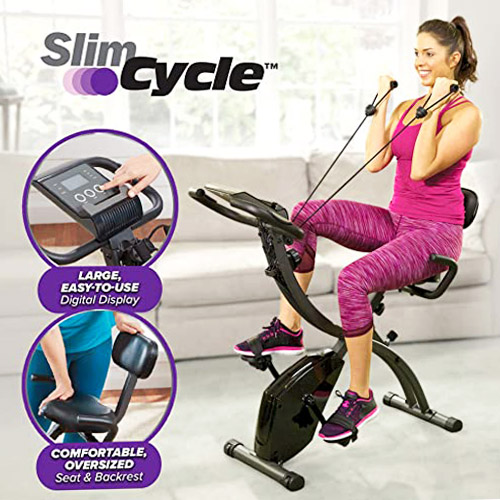 BulbHead As Seen On TV Slim Cycle 2-in-1 Stationary Bike