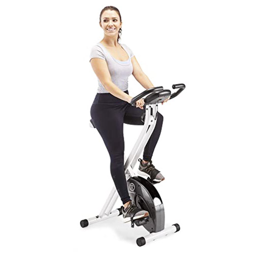 Marcy Foldable Upright Exercise Bike with Adjustable Resistance
