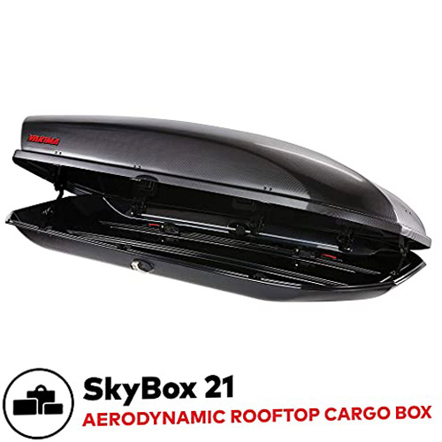 YAKIMA - SkyBox Aerodynamic Rooftop Cargo Space for Cars
