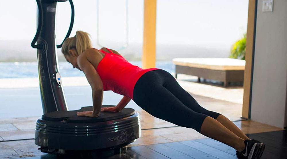 Push ups with Vibration machine