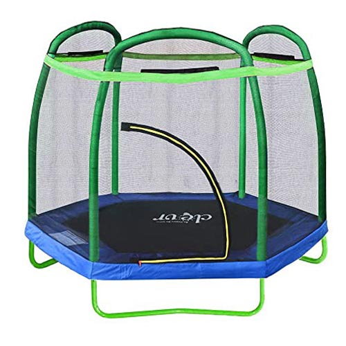 Clevr 7ft Kids Trampoline with Safety Enclosure Net & Spring Pa