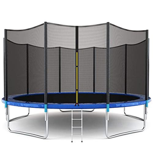 Giantex 8FT to 16Ft Trampoline with Safety Enclosure Net