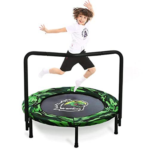 Wamkos 2020 Upgraded Dinosaur Mini Trampoline for Kids